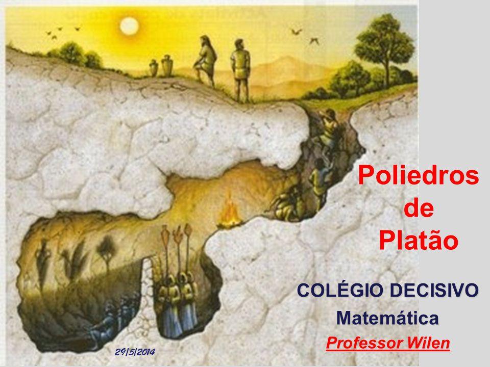 Poliedros de Platão COLÉGIO DECISIVO Matemática Professor Wilen
