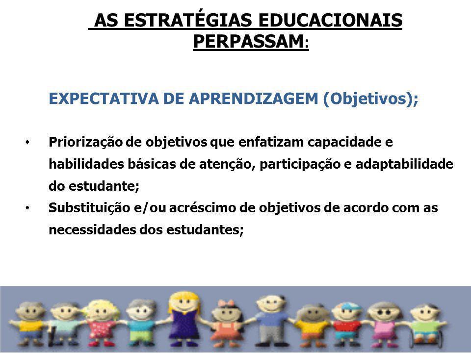 AS ESTRATÉGIAS EDUCACIONAIS PERPASSAM: