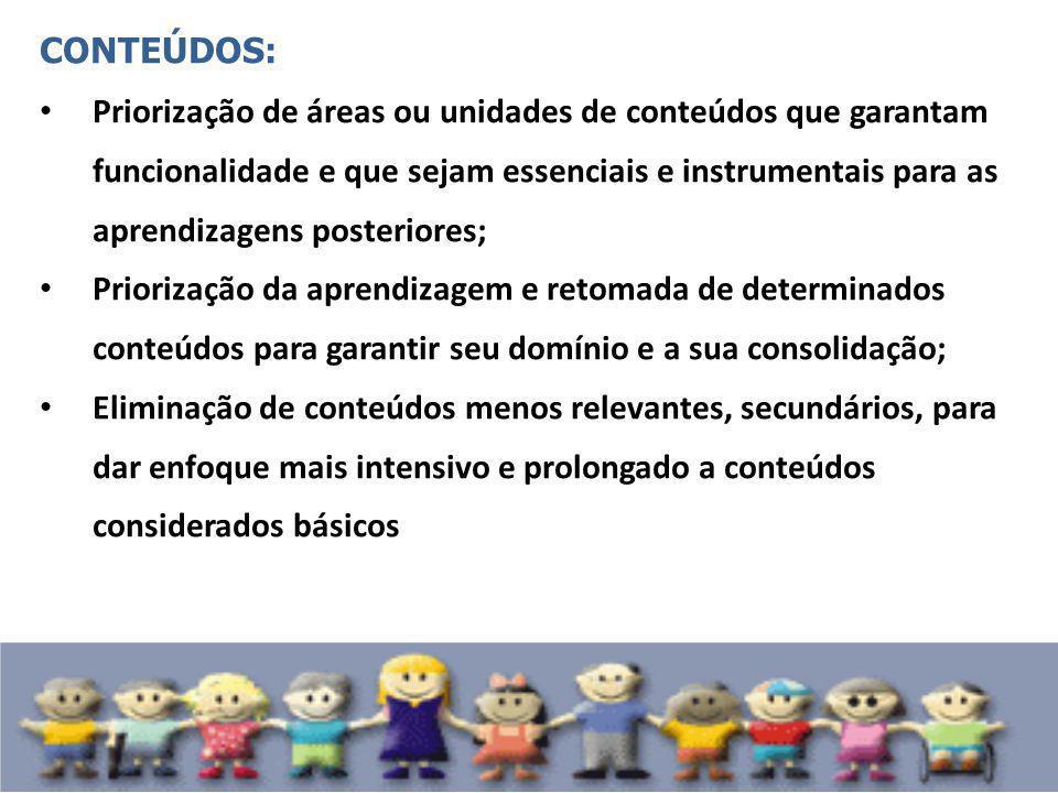 CONTEÚDOS: