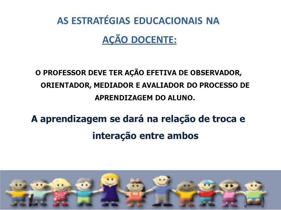 AS ESTRATÉGIAS EDUCACIONAIS NA AÇÃO DOCENTE: