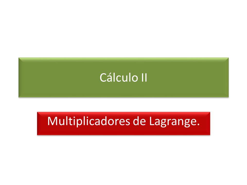 Multiplicadores de Lagrange.