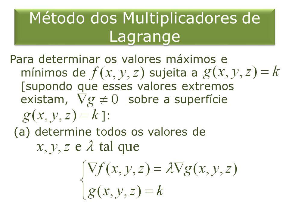 Método dos Multiplicadores de Lagrange