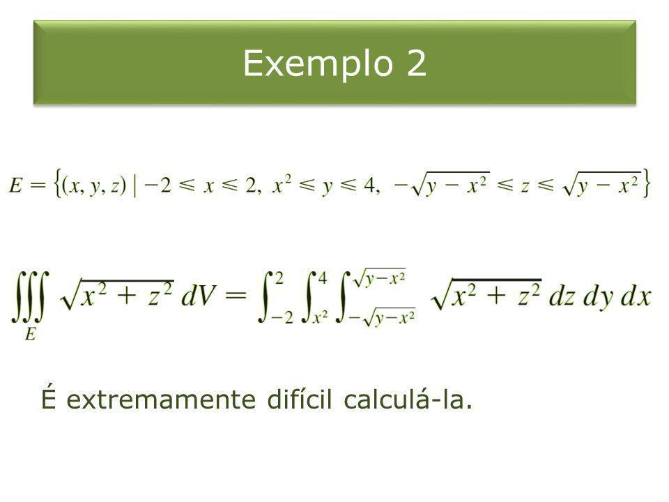 Exemplo 2 É extremamente difícil calculá-la.