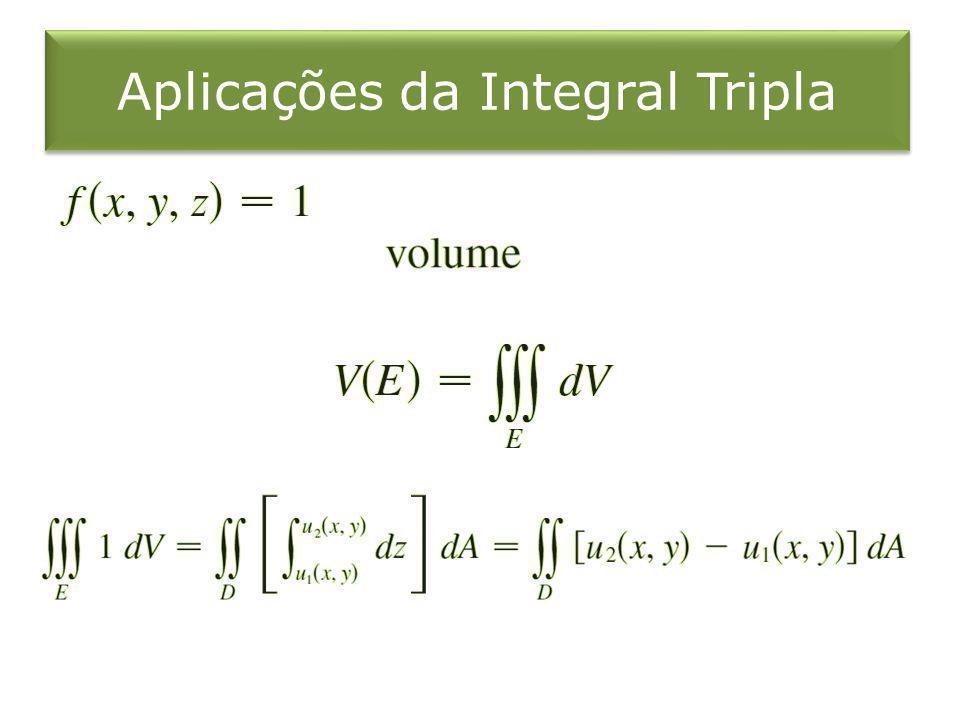 Aplicações da Integral Tripla