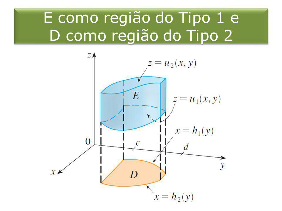 E como região do Tipo 1 e D como região do Tipo 2