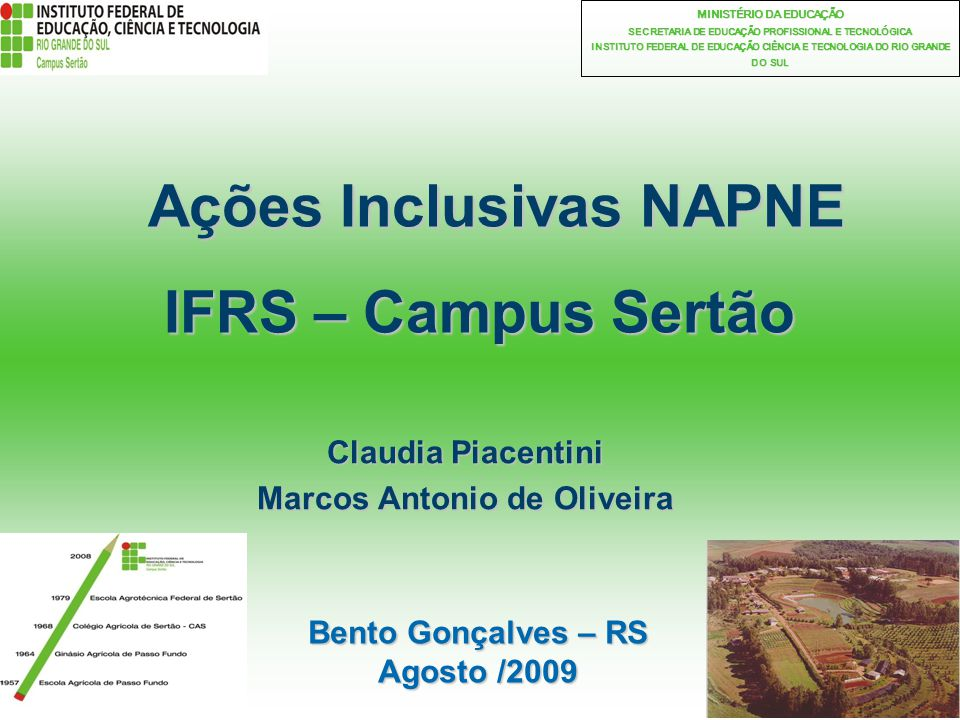 Ações Inclusivas NAPNE IFRS – Campus Sertão