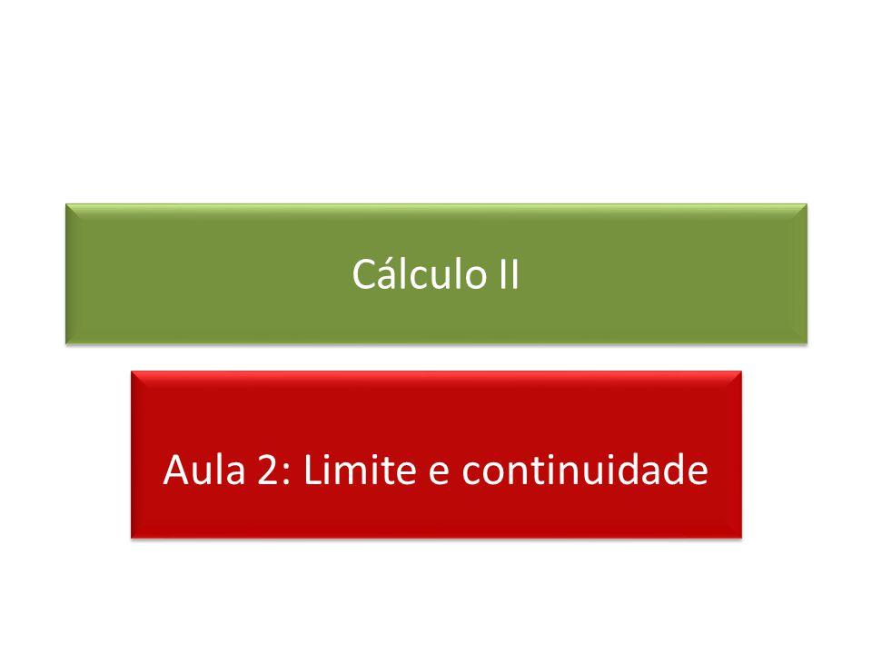 Aula 2: Limite e continuidade