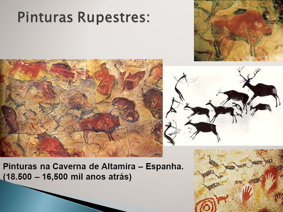 Pinturas Rupestres: Pinturas na Caverna de Altamira – Espanha.