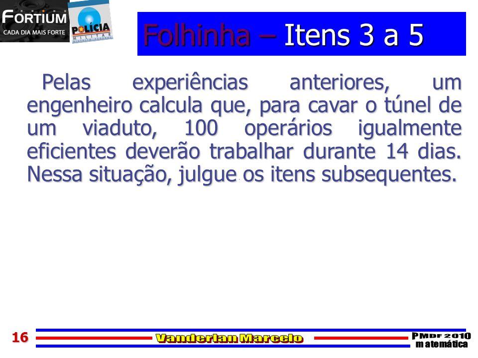 Folhinha – Itens 3 a 5