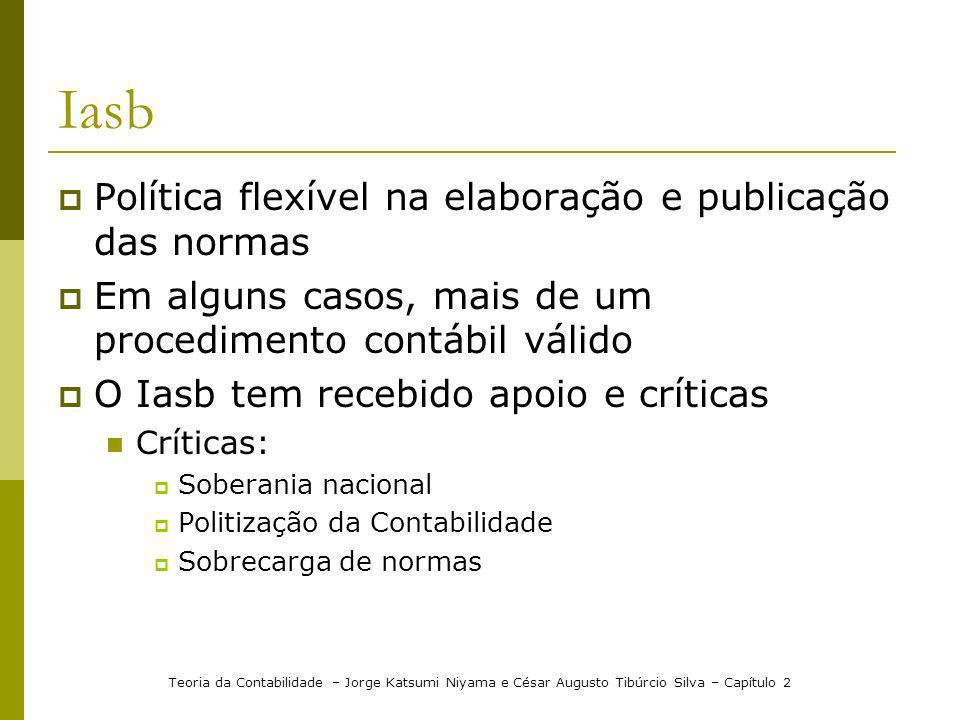 Iasb Política flexível na elaboração e publicação das normas
