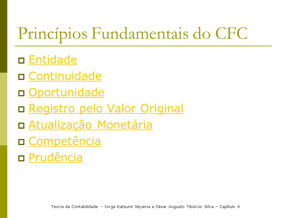 Princípios Fundamentais do CFC