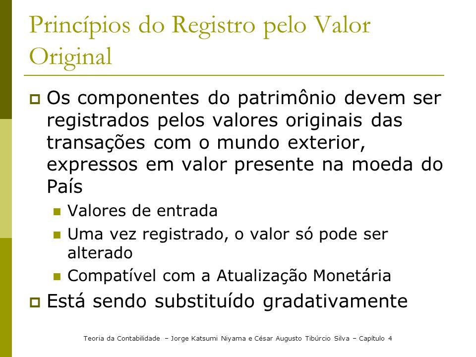Princípios do Registro pelo Valor Original