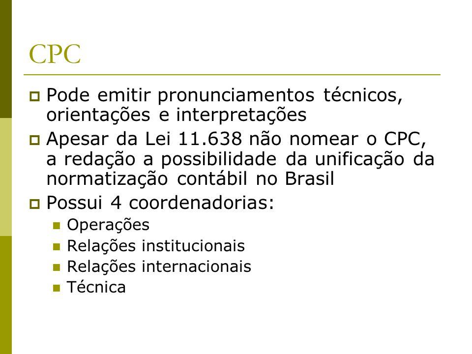 CPC Pode emitir pronunciamentos técnicos, orientações e interpretações