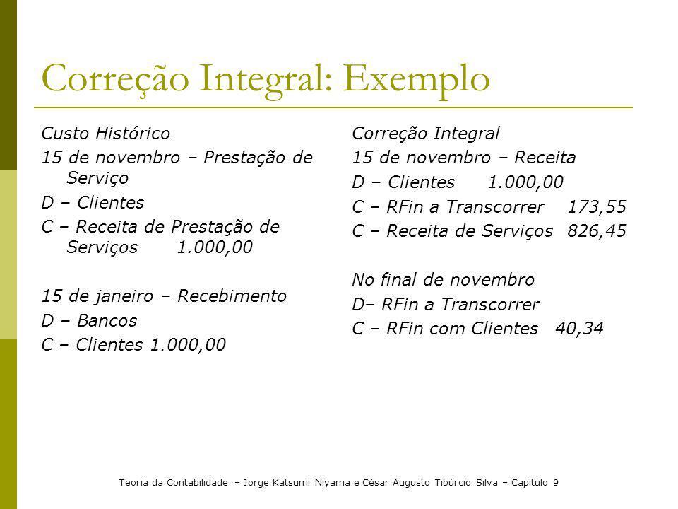 Correção Integral: Exemplo