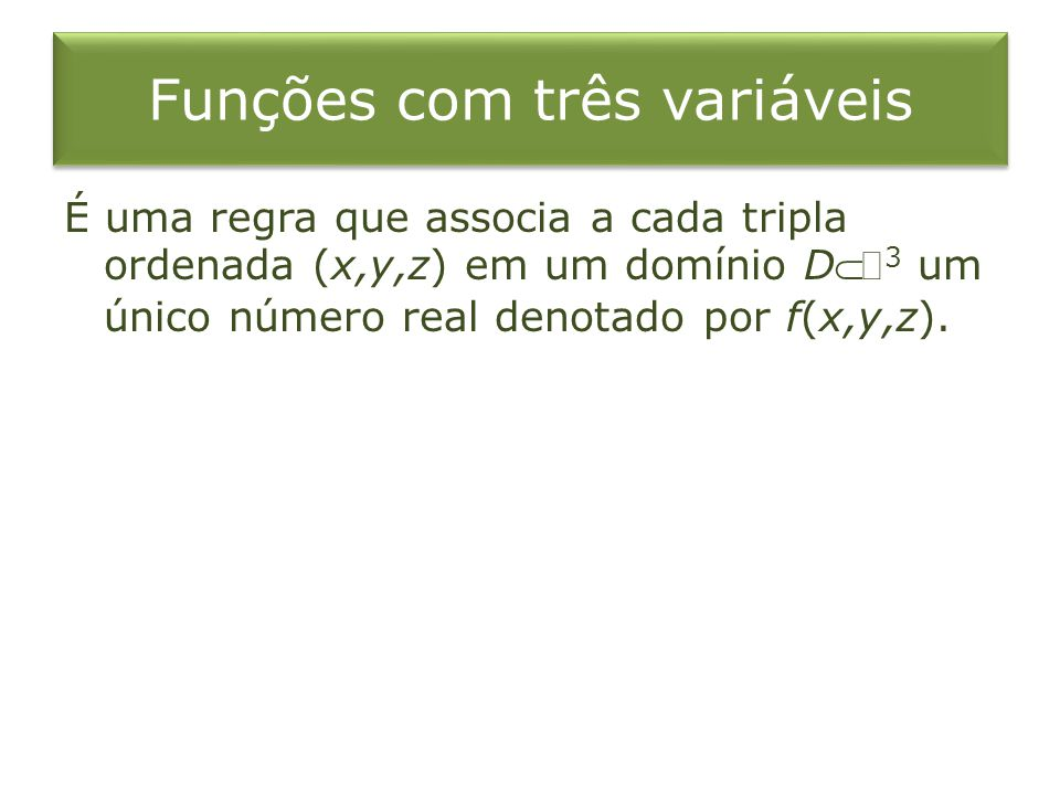 Funções com três variáveis