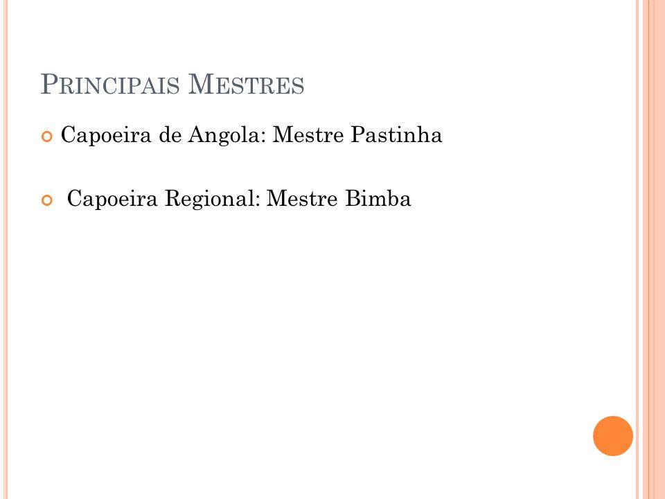Principais Mestres Capoeira de Angola: Mestre Pastinha