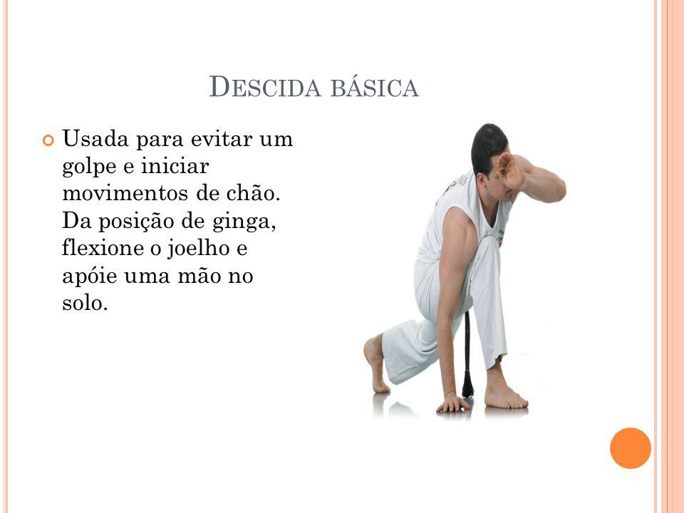 Descida básica Usada para evitar um golpe e iniciar movimentos de chão.