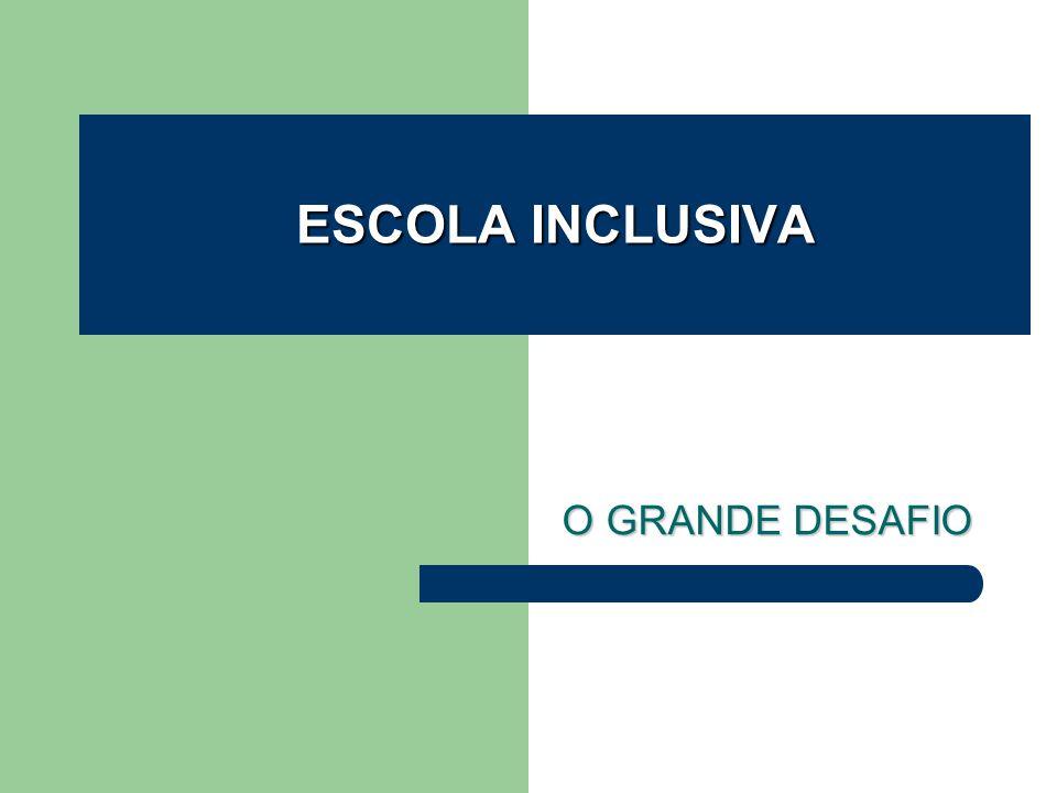 ESCOLA INCLUSIVA O GRANDE DESAFIO