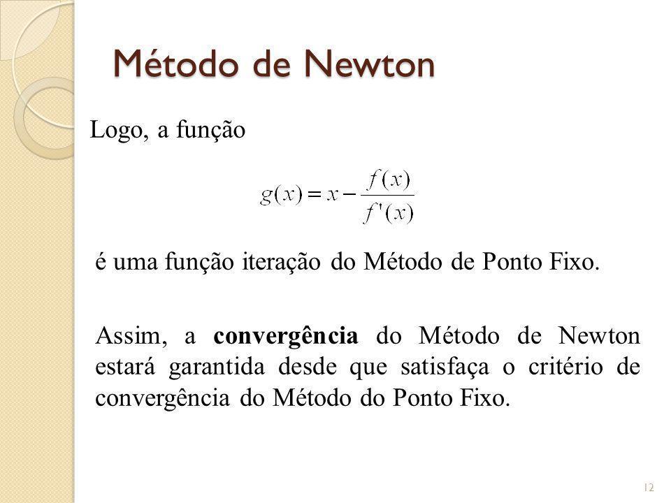 Método de Newton Logo, a função