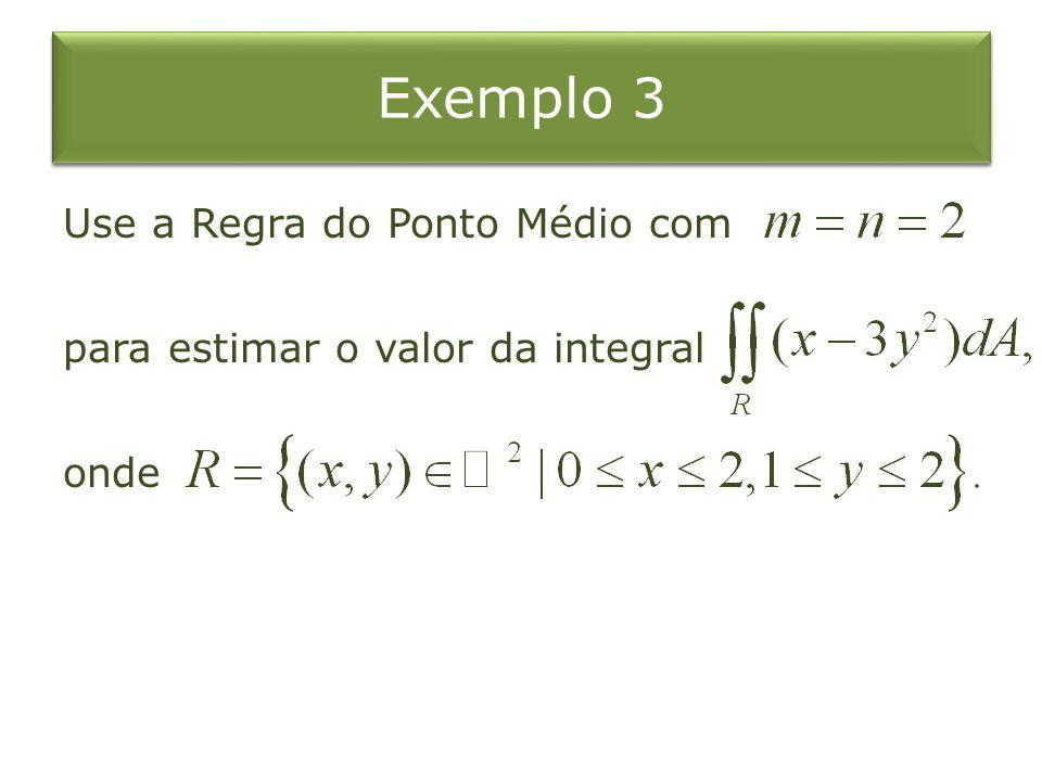 Exemplo 3 Use a Regra do Ponto Médio com