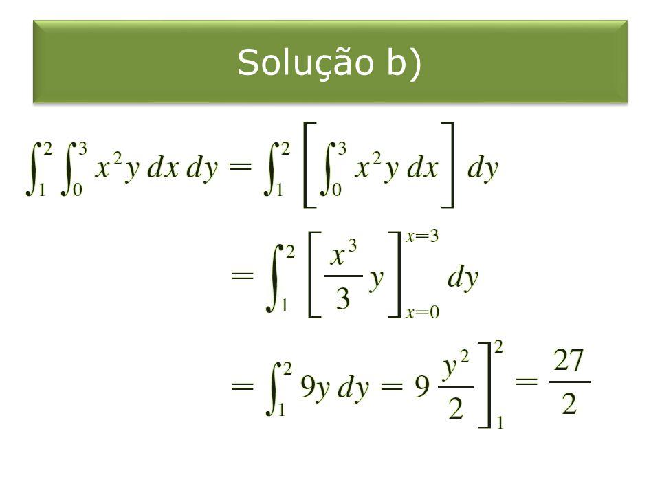Solução b)