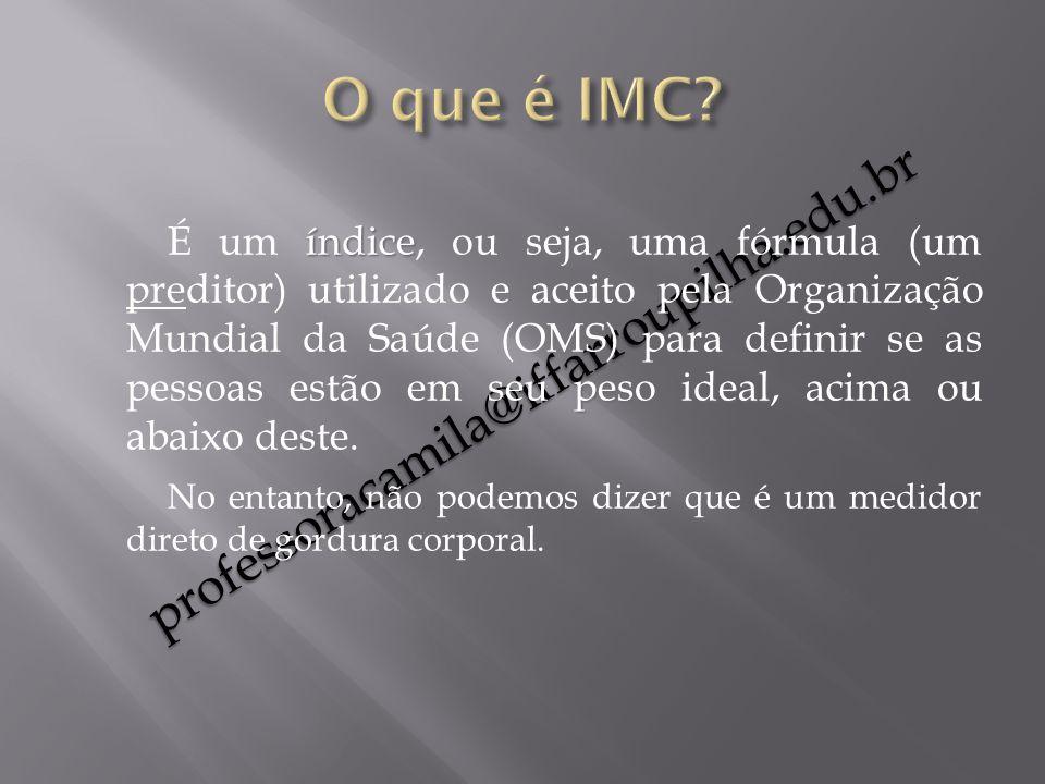 O que é IMC professoracamila@iffarroupilha.edu.br