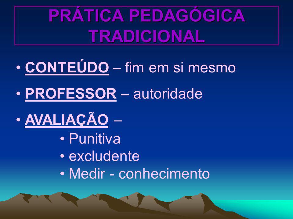 PRÁTICA PEDAGÓGICA TRADICIONAL