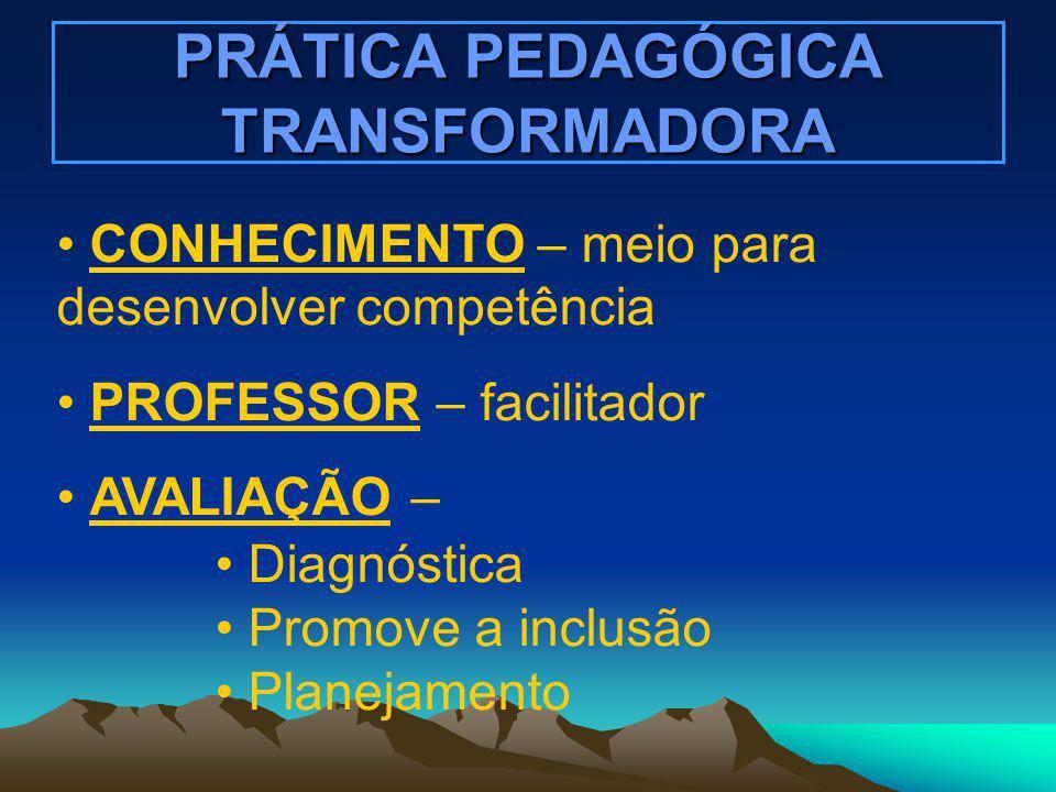 PRÁTICA PEDAGÓGICA TRANSFORMADORA