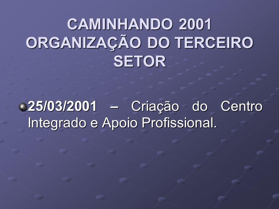 CAMINHANDO 2001 ORGANIZAÇÃO DO TERCEIRO SETOR