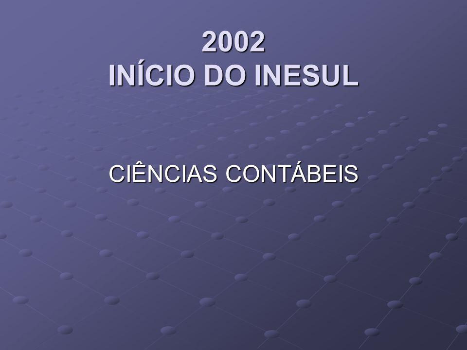 2002 INÍCIO DO INESUL CIÊNCIAS CONTÁBEIS