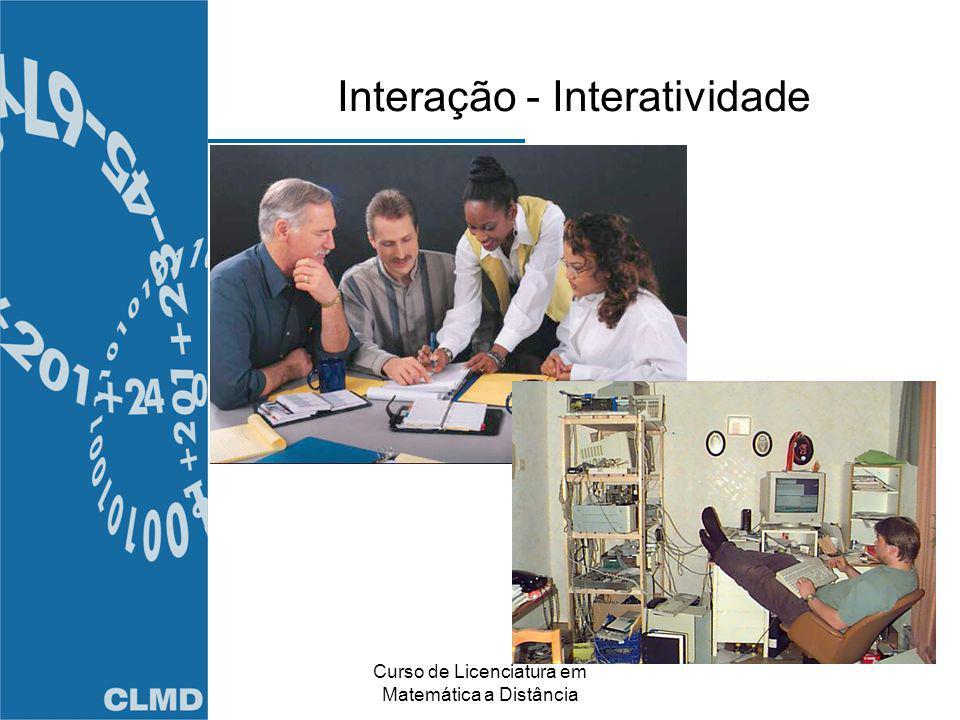 Interação - Interatividade
