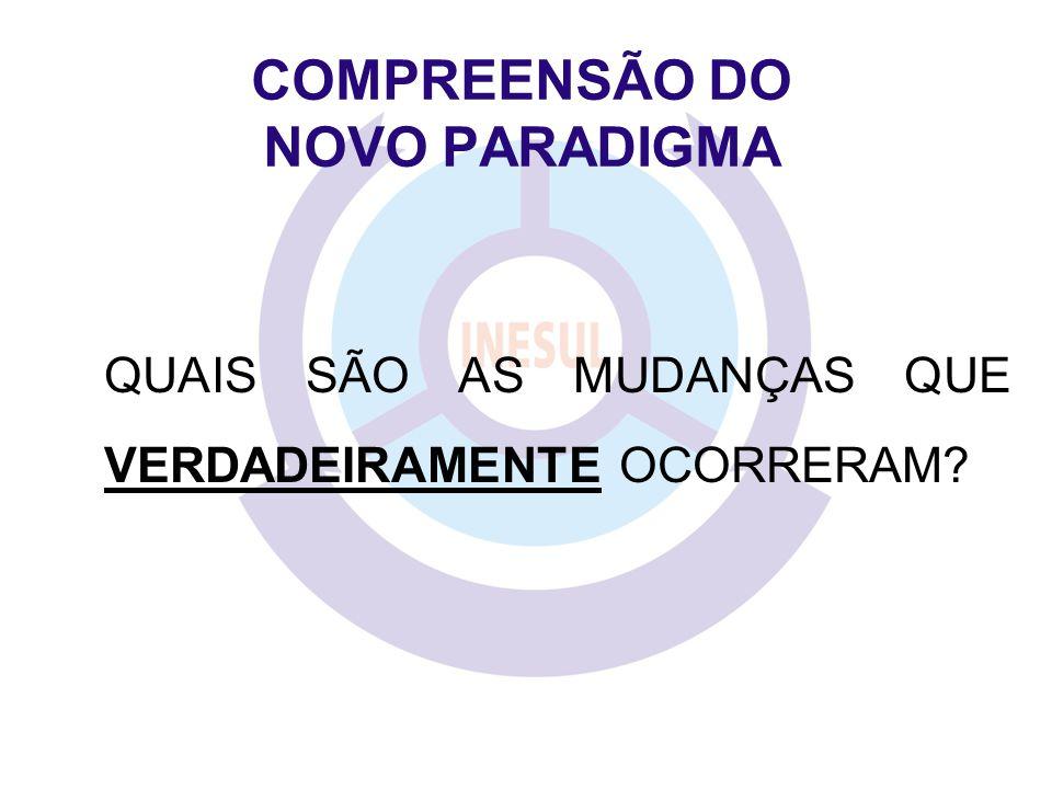COMPREENSÃO DO NOVO PARADIGMA