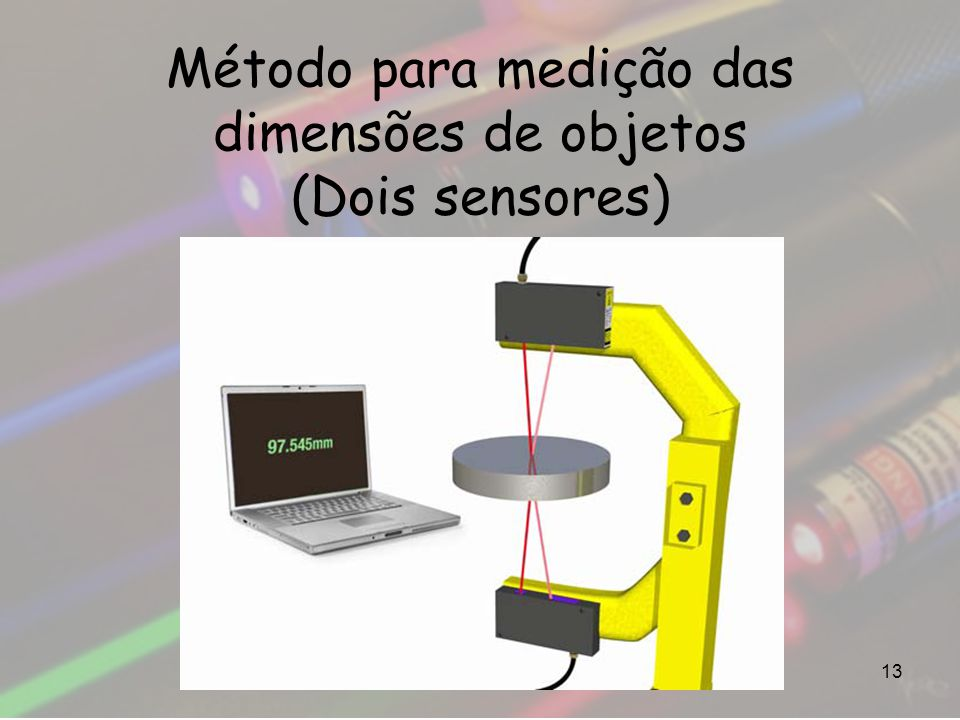 Método para medição das dimensões de objetos (Dois sensores)
