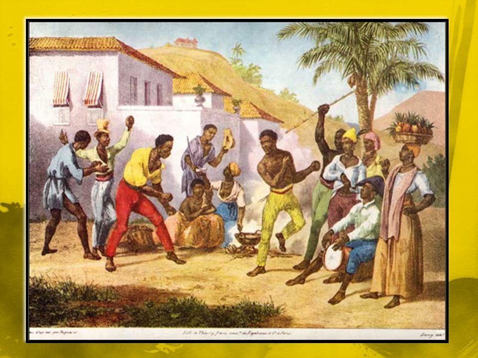 Escravos praticando Capoeira