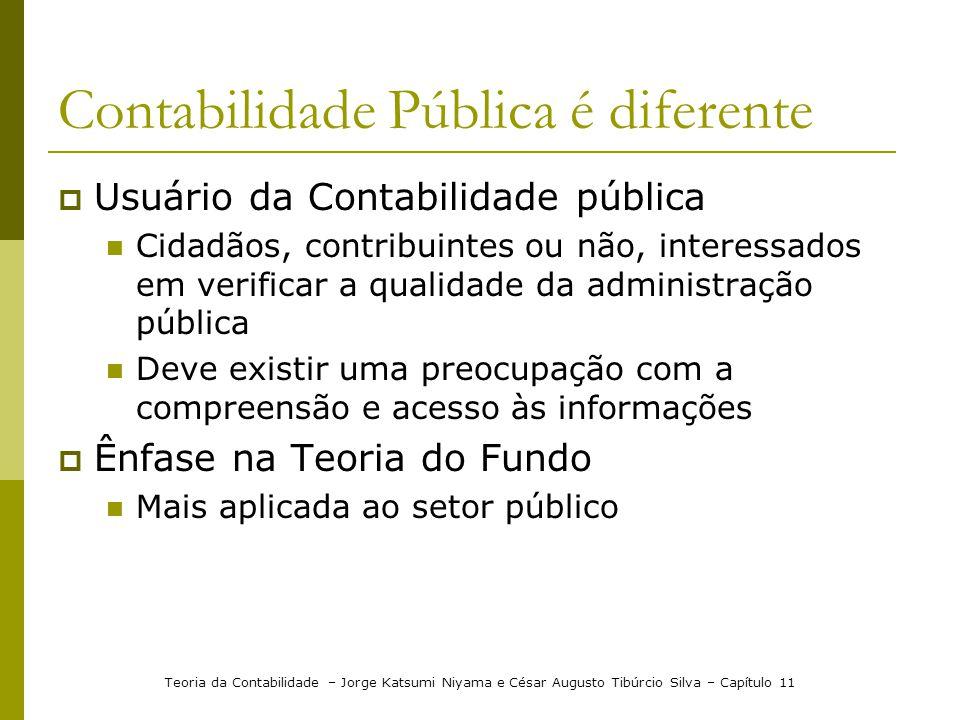 Contabilidade Pública é diferente