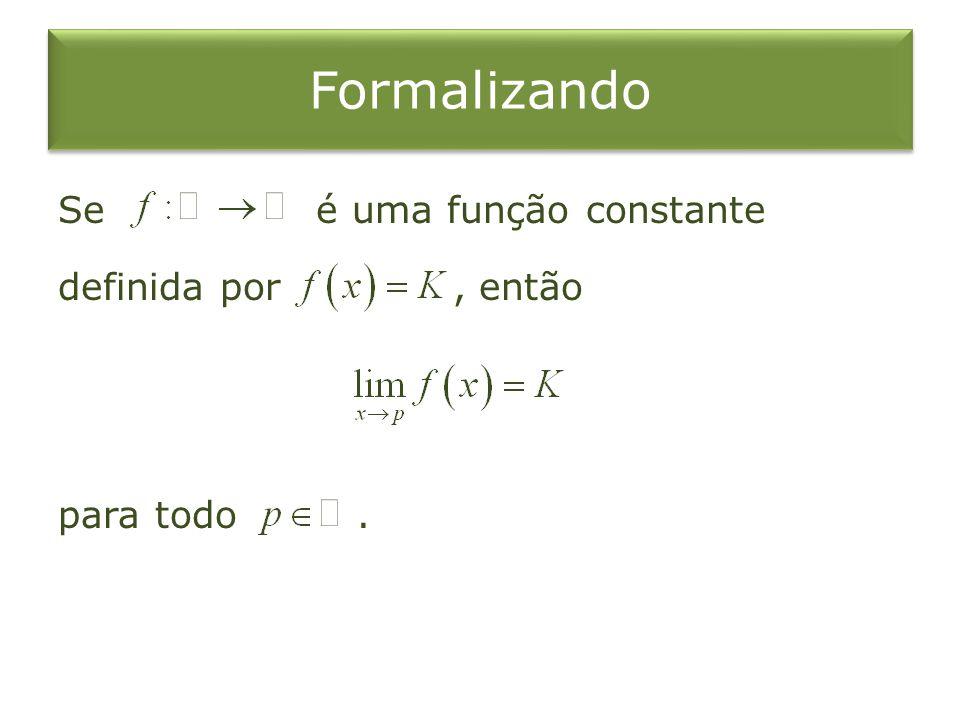 Formalizando Se é uma função constante definida por , então para todo .