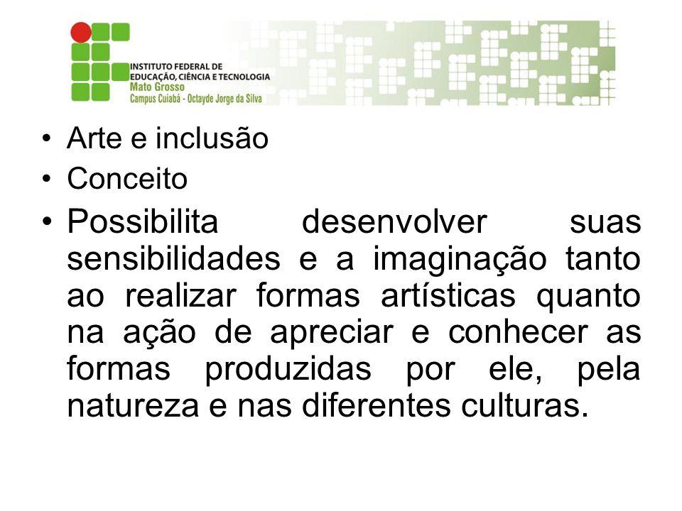 Arte e inclusão Conceito.