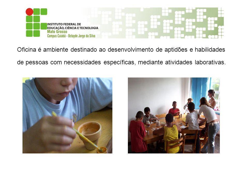 Oficina é ambiente destinado ao desenvolvimento de aptidões e habilidades