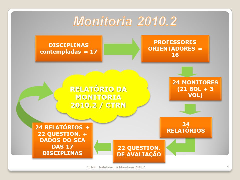 Monitoria 2010.2 RELATÓRIO DA MONITORIA 2010.2 / CTRN