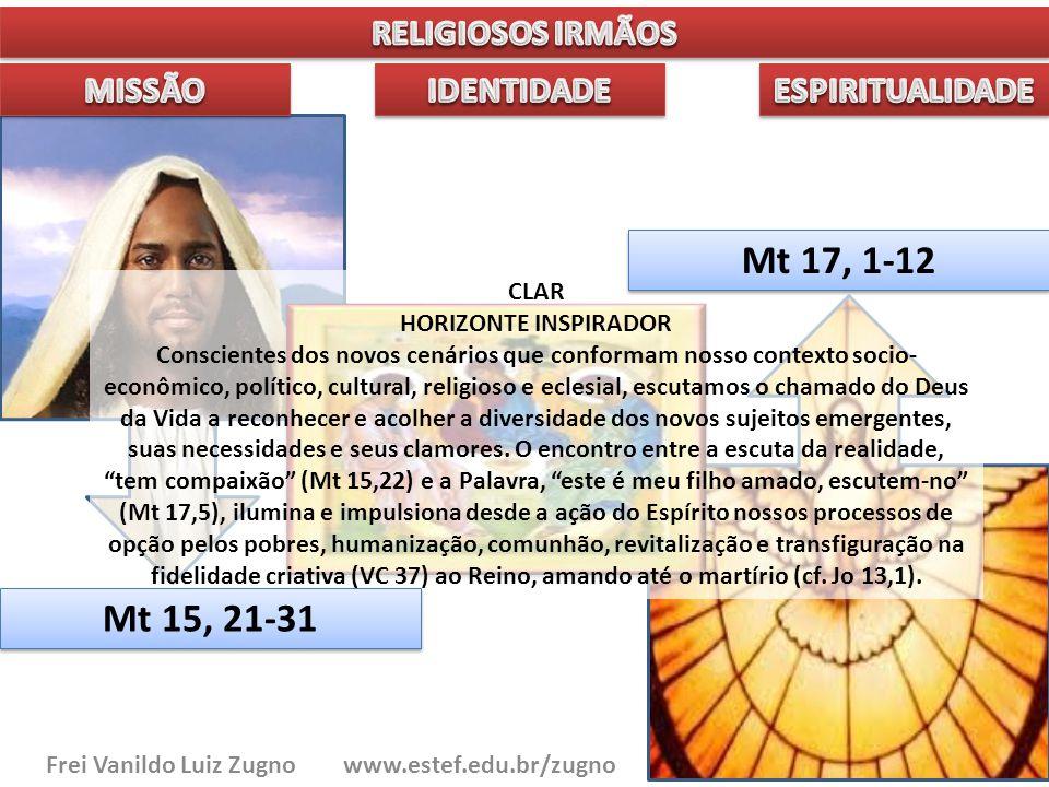 Frei Vanildo Luiz Zugno www.estef.edu.br/zugno