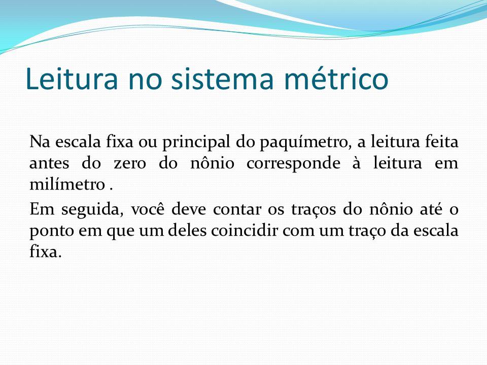 Leitura no sistema métrico