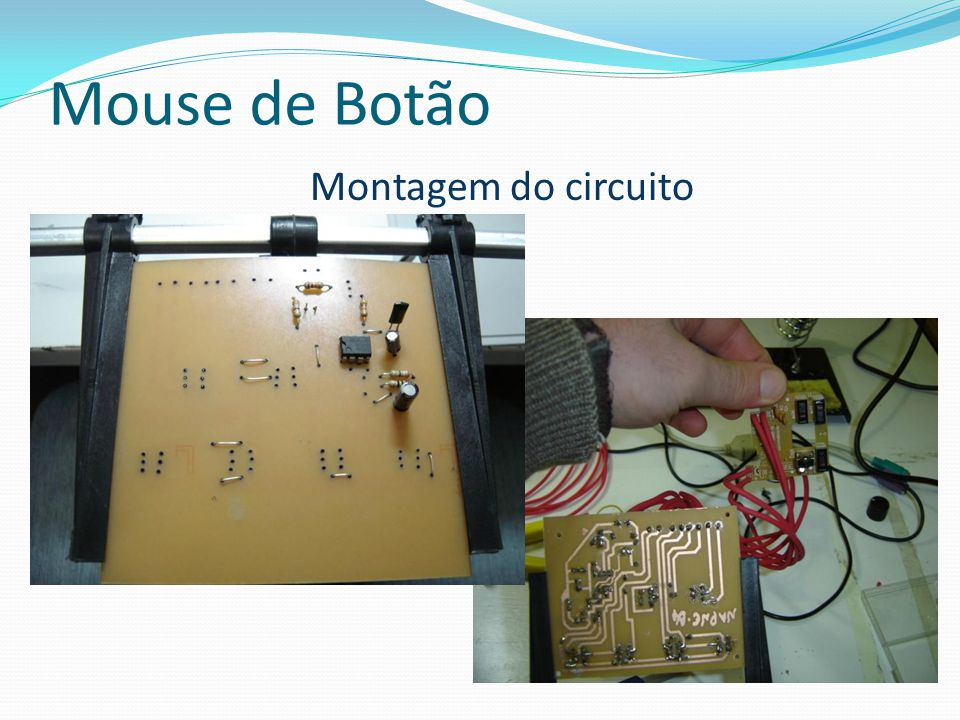 Mouse de Botão Montagem do circuito