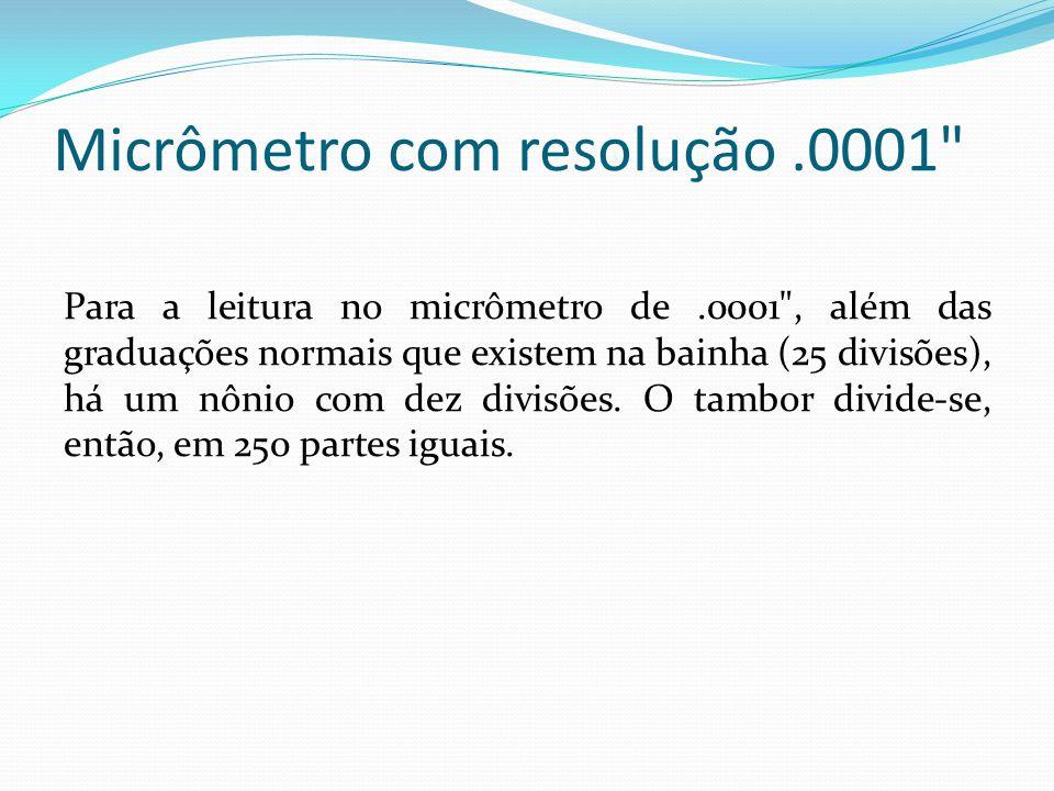 Micrômetro com resolução .0001