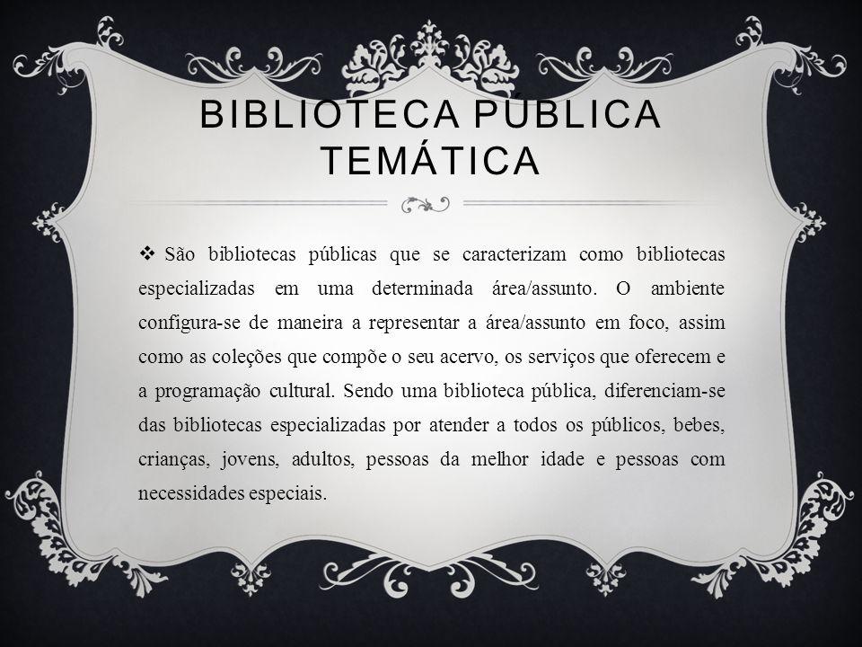 BIBLIOTECA PÚBLICA TEMÁTICA