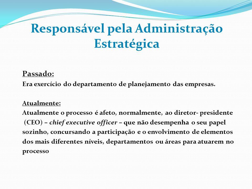 Responsável pela Administração Estratégica