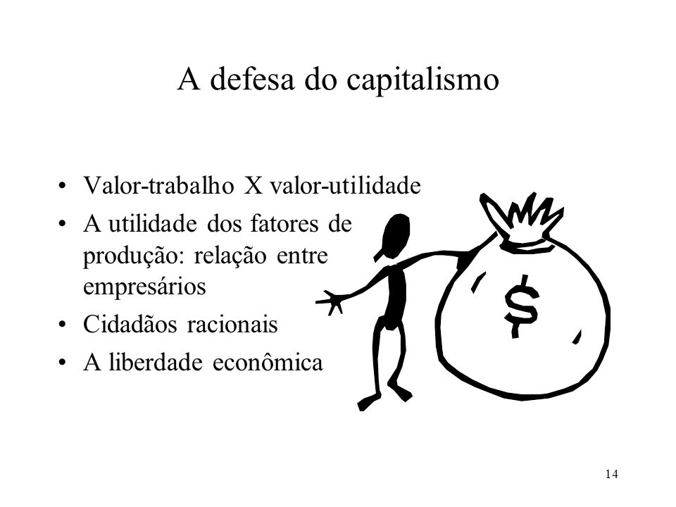 A defesa do capitalismo