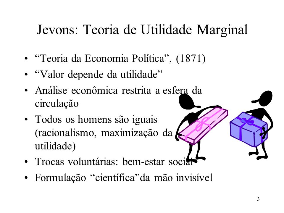 Jevons: Teoria de Utilidade Marginal