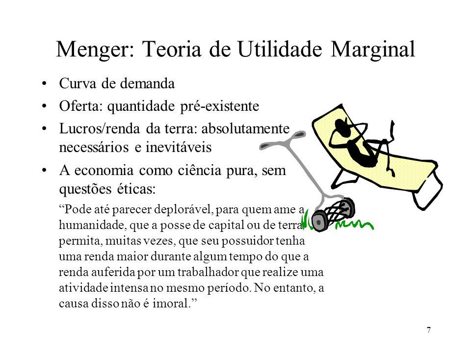 Menger: Teoria de Utilidade Marginal