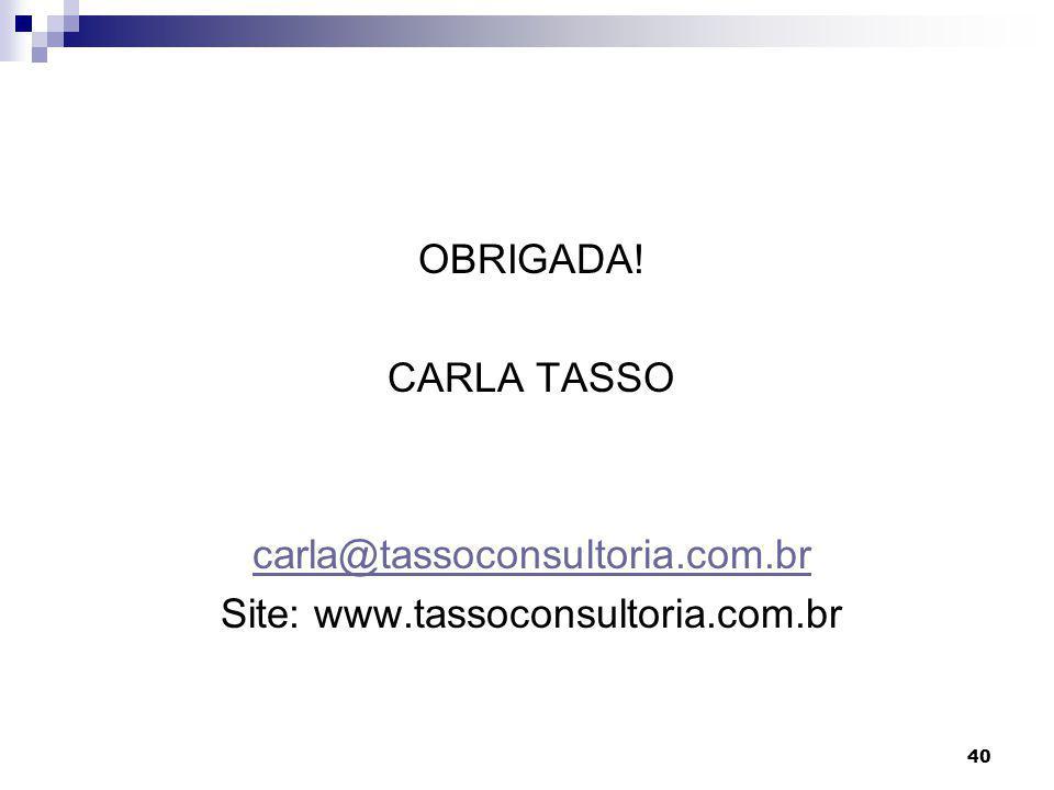Site: www.tassoconsultoria.com.br