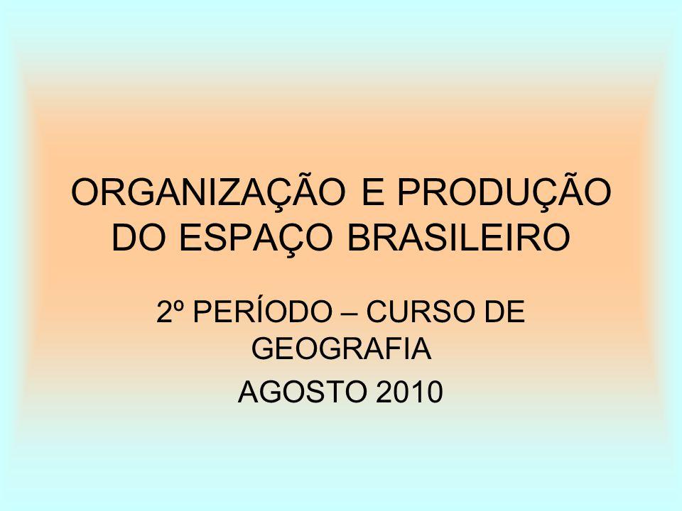 ORGANIZAÇÃO E PRODUÇÃO DO ESPAÇO BRASILEIRO